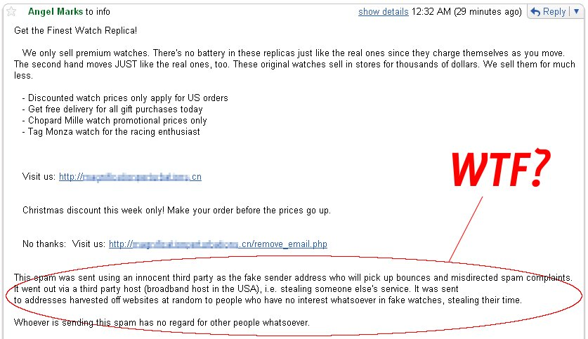 honest spam